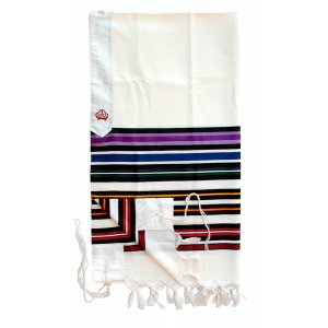 Bnei Ohr Josephs Coat Tallit Rainbow Colors by Talitnia