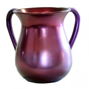Plum Red Anodized Aluminum Classic Netilat Yadayim Wash Cup - Yair Emanuel