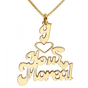 Love You Gold Filled English Name Necklace