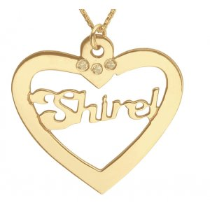 Gold Filled Name Necklace in Heart