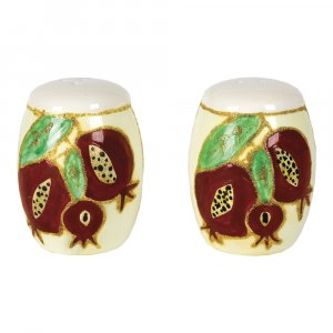 Decorative Pomegranate Design Ceramic salt and pepper shakers
