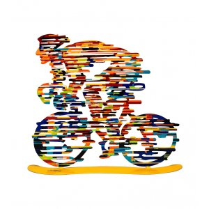 Armstrong Free Standing Double Sided Bicycle Sculpture - David Gerstein
