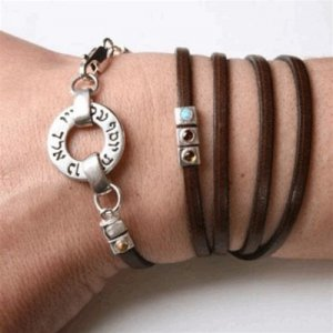 Leather Kabbalah Bracelet by Ha'Ari