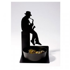 Saxophone Player Coin Holder