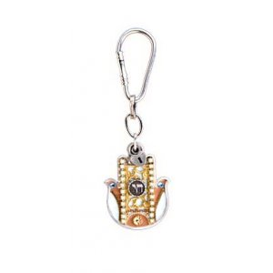Chamsa Chai Key ring by Ester Shahaf