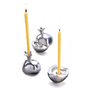 Pomegranate Candlesticks by Anat Basanta