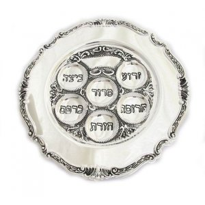Classic Silver Plated Seder Plate