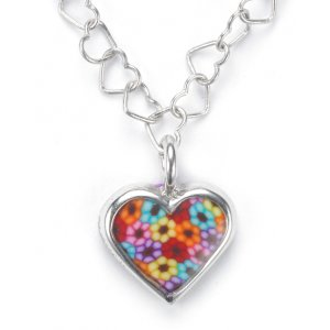 Tiny Thousand Flower Heart Charm by Adina Plastelina SALE PRICE - 1 LEFT IN STOCK !!