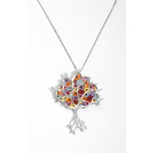 Thousand Flower Tree of Life Pendant by Adina Plastelina SALE PRICE - 1 LEFT IN STOCK !!