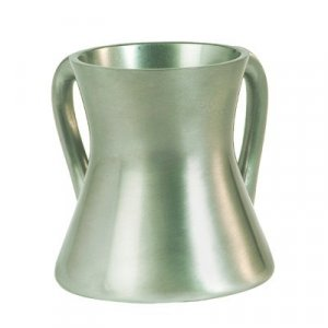 Gleaming Silver Aluminum Small Hourglass Wash Cup - Yair Emanuel