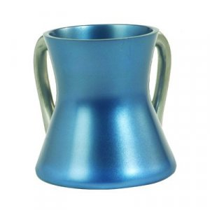 Gleaming Blue Aluminum Small Hourglass Wash Cup - Yair Emanuel