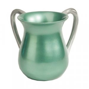 Light Green Anodized Aluminum Classic Netilat Yadayim Wash Cup - Yair Emanuel