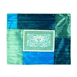 Insulaed Hot Plate Platta Cover for Shabbat Shades of Blue, Embroidery - Yair Emanuel