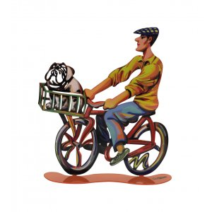 Country Rider Free Standing Double Sided Bicycle Sculpture - David Gerstein