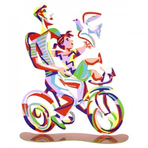 Weekend Ride Free Standing Double Sided Bicycle Sculpture - David Gerstein