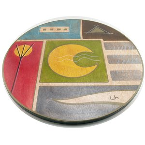 Yellow Moon Lazy Susan - Kakadu