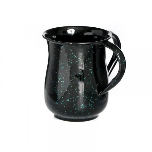 Black Aluminum Wash Cup with Confetti Sprinkles