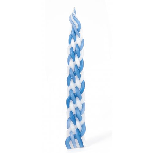 Blue & White Handmade Paraffin Kosher Havdalah Candle