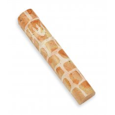 Brown Jerusalem Stone Mezuzah Case Shin