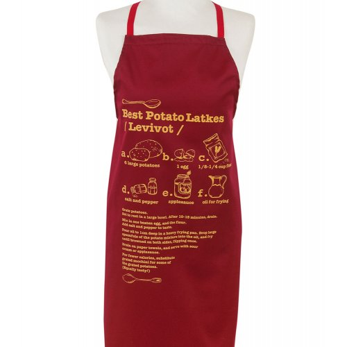 Chanukah Kitchen Apron with Potato Latkes Recipe - Barbara Shaw