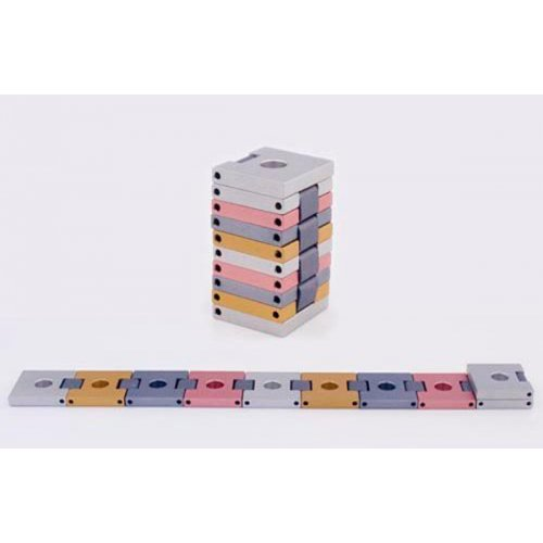 Compact Travelling Menorah with Belt Shape, Choice of Colors - Agayof