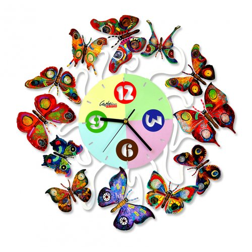 David Gerstein Butterfly Time for Spring Wall Clock