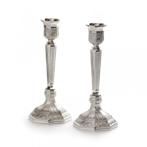 Decorative Shabbat Candlesticks