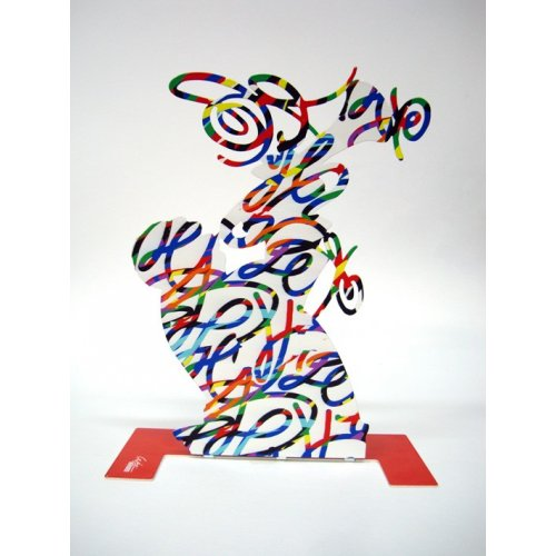Free Standing Double Sided Music Sculpture - Trumpet Player by David Gerstein