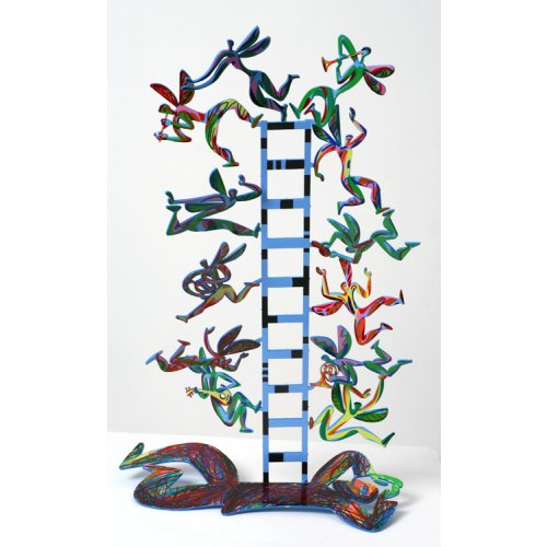 Free Standing Double Sided Sculpture - Jacobs Ladder by David Gerstein