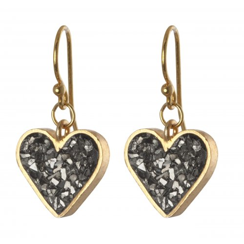 Heart Earrings by Haya Elfasi - Rough Diamond