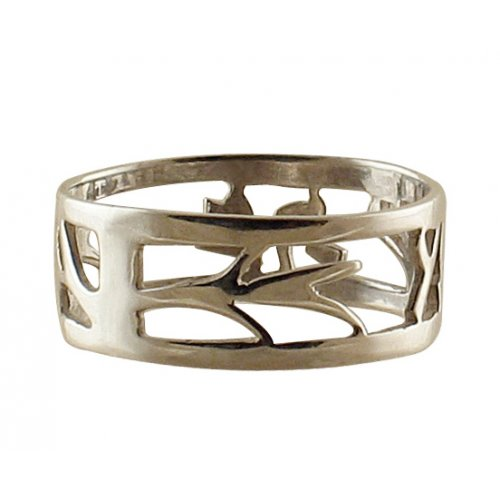 Hebrew Name Ring by Boaz Netanel
