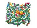 Laser Cut Fruit Bowl or Wall Decoration - Birds of the World by David Gerstein