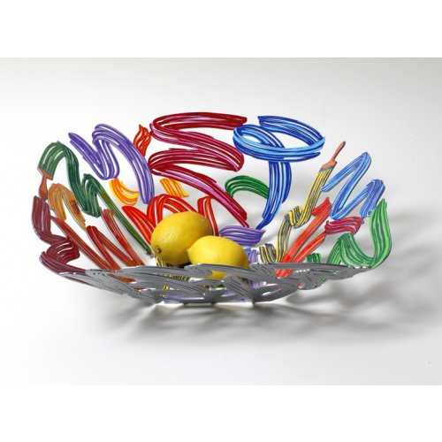 Laser Cut Fruit Bowl or Wall Decoration - Brush Strokes by David Gerstein