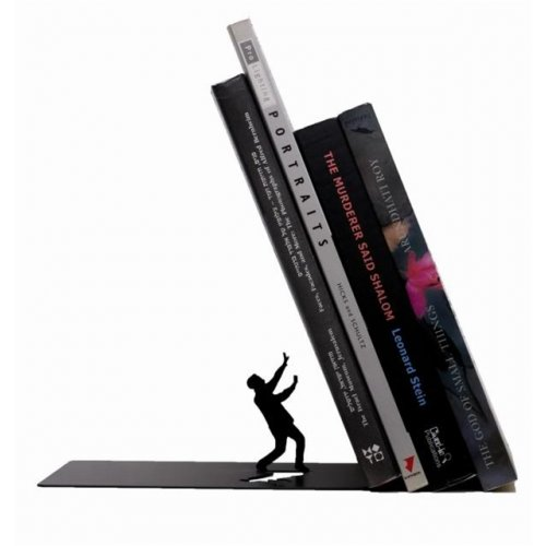 Metal Bookend - Falling Books by Artori