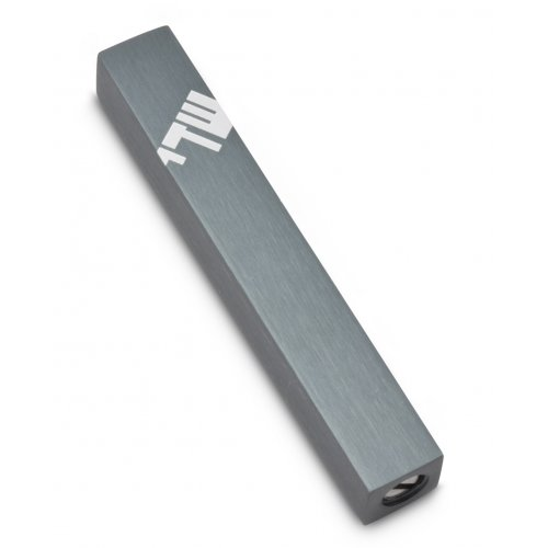 Mini Mezuzah Case with Three Lettered Hebrew Divine Name, Gray - Adi Sidler