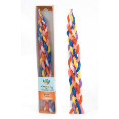 Multi-colored Handmade Paraffin Kosher Havdalah Candle