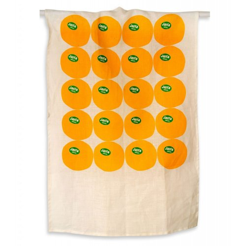 Orange Linen Dish Towel with Jaffa Oranges - Barbara Shaw