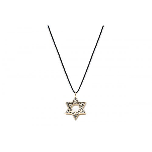 Pendant on Cord by Chaya Elfasi - Star of David