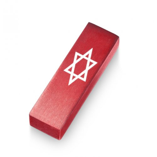 Red Star of David Car Mezuzah by Adi Sidler
