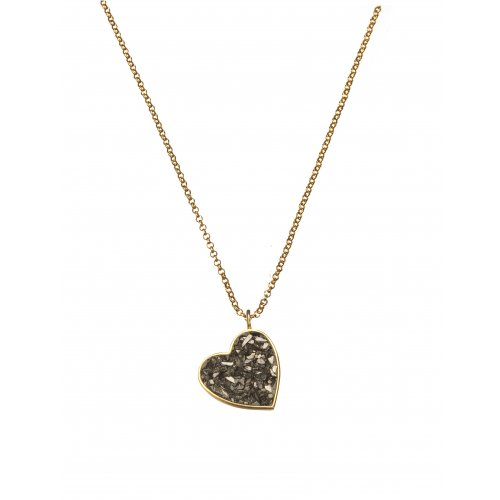 Rough Diamond Heart Necklace by Chaya Elfassi