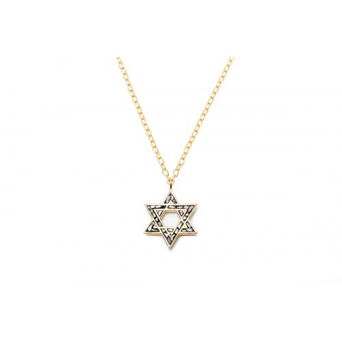 Rough Diamond Star of David Necklace by Chaya Elfassi