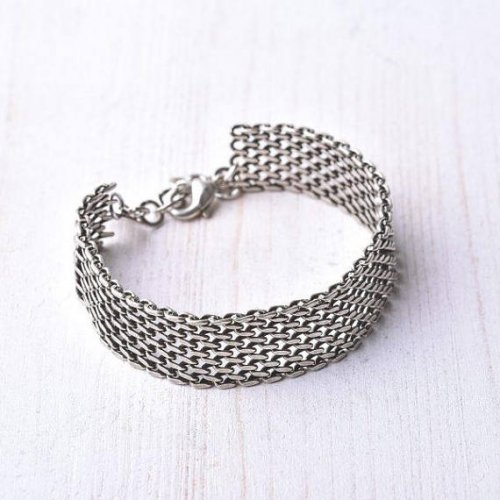 Silver Plated Cuff Men's Bracelet by Gal Cohen