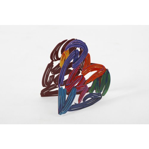 Strokes of Love Free Standing Double Sided Heart Sculpture - David Gerstein