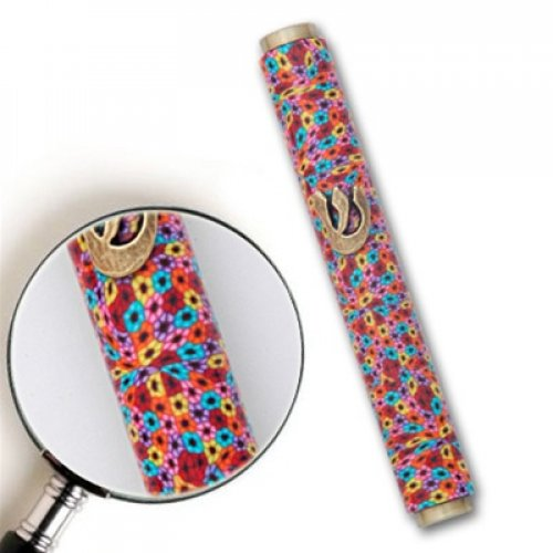 Thousand Flower Mezuzah Case by Adina Plastelina