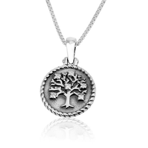 Tree of Life Pendant Necklace - Sterling Silver