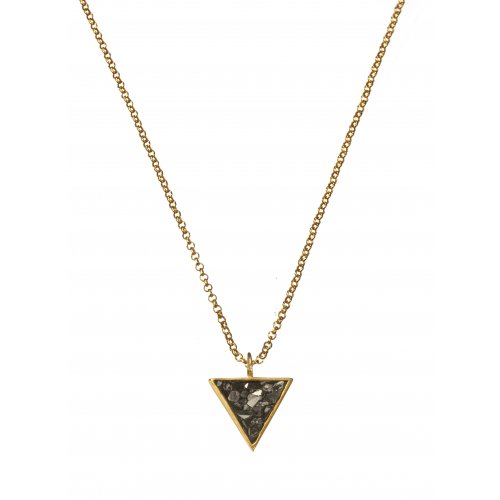 Triangle Necklace by Chaya Elfasi - Rough Diamond