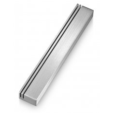 Vertical Tracks at Edge of Silver Mezuzah Case by Adi Sidler