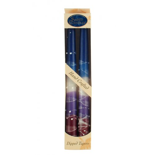Violet Color Pair of Safed Taper Candles